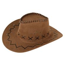 西部牛th帽户外旅游ho士遮阳帽仿麂皮绒夏季防晒清凉骑士帽子