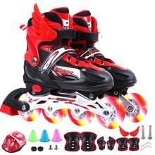 少儿(小)th子溜冰鞋大ho级中大童男生男孩三年级单排夜光
