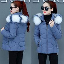 羽绒服th服女冬短式ho棉衣加厚修身显瘦女士(小)式短装冬季外套