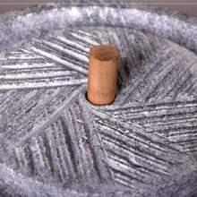新。(小)石磨家用th动豆浆(小)麦ho迷你石磨盘手石材户外手工民间