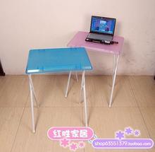 简易桌th折叠桌学习ho记本书桌户外便携式轻便长条(小)餐桌饭桌