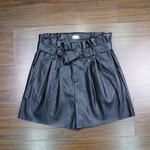 外贸原单半身裙皮短裙th7蝶要带新ki底裤质量好