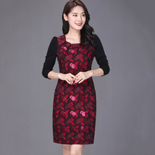 喜婆婆th妈参加婚礼le中年高贵(小)个子洋气品牌高档旗袍连衣裙