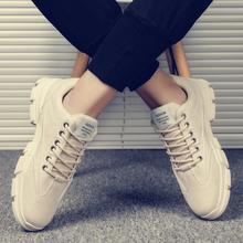 马丁靴th2020秋li工装百搭加绒保暖休闲英伦男鞋潮鞋皮鞋冬季