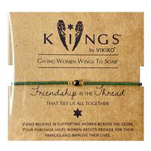 VIKthKO【健康li(小)众设计女生细珠串手链绳绿色友谊闺蜜好礼物