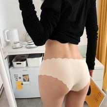 ZDEthIGN日系ma丝无痕性感女三角裤简约舒适透气一片式女内裤