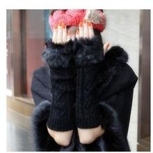 皮草毛毛袖套假袖子袖套女秋冬季毛绒th14暖成的ma袖子袖口