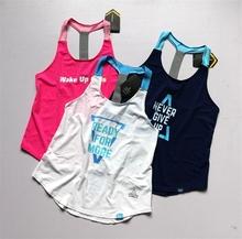 新式女式薄弹力宽松工字背心健身衣th13气跑步ma伽健身罩衫