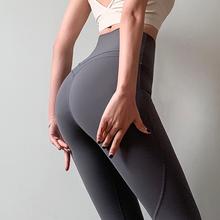 健身女th蜜桃提臀运me力紧身跑步训练瑜伽长裤高腰显瘦速干裤