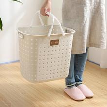 日本进th洗衣篮家用od塑料放脏衣服收纳筐卫生间简约脏衣篓