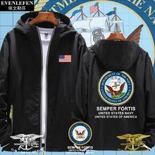 美国海军USA海th5突击队国pa帽外套男女夹克帽衫休闲上衣服