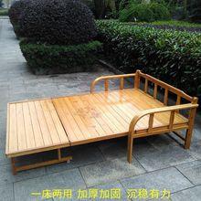 折叠床th的经济型午pa1.2米1.5双的午睡多功能两用沙发床