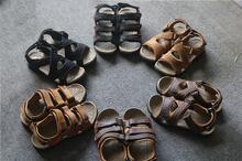 外贸单th外登山徒步pi鞋真皮男式休闲凉鞋速干涉水鞋溯溪鞋
