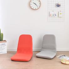 日式懒th沙发榻榻米po可折叠(小)沙发单的卧室飘窗床上靠背椅子