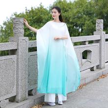 白色禅th服装女套装po仙女飘逸连衣裙宽松禅意长袍古琴茶禅服