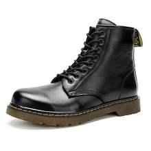 冬季4th户外46中qu47真皮靴牛皮特大码马丁靴48加肥加大男靴子