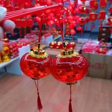 网红手th发光水晶投qu笼挂饰春节元宵新年装饰场景宝宝玩具
