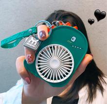 202th新式便携式qu扇usb可充电 可爱恐龙(小)型口袋电风扇迷你学生随身携带手