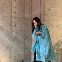 CAVthMPT Cra复古做旧灯芯绒衬衫日系潮牌街头男女休闲宽松夹克