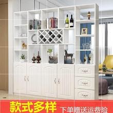 进门酒th隔断容量大ra客厅白色双面门厅柜隔断柜简约大(小)户型