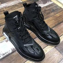 [there]高帮皮鞋男士韩版潮流冬季