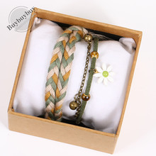 insth众设计文艺ri系简约气质冷淡风女学生编织棉麻手绳