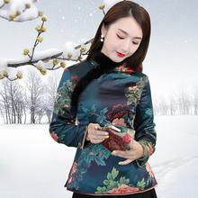 唐装女th国风冬装加ri(小)棉袄夹棉上衣中式年轻式民族风女装