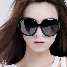 202th新式偏光太sa士时尚潮明星式超大框圆脸眼镜优雅百搭墨镜