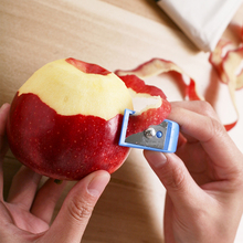 苹果去th器水果削皮sa梨子机切薄皮刮长皮不断的工具打皮(小)刀