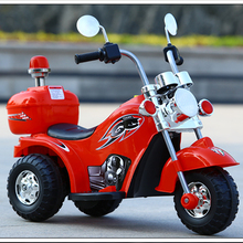 女宝男孩女th男孩子带的st童电动两轮摩托车1-3岁充电双的