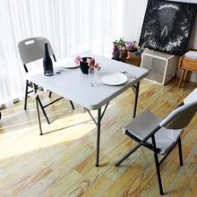 大学宿th桌书桌椅子th免安装野餐大学生野营4的4的桌子置地。