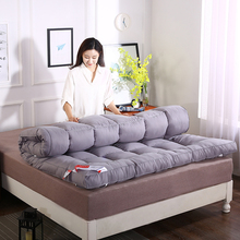 加厚10cm羽绒棉学生宿舍th10暖床垫th.9m1.2米双的1.5m1.8米