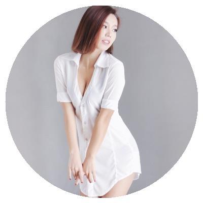 [thewe]性感白女 夜店短袖修身显