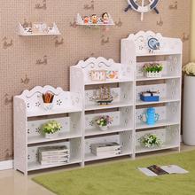 简易儿th书柜学生书wo置物架客厅落地组合现代简约收纳储物柜