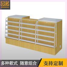 欧式收th台柜台简约wo装转角奶茶柜台(小)型大气金色