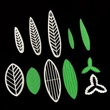 寿桃叶子模具麦穗玉米叶子翻糖树th12柳叶面wr寿桃包子模具