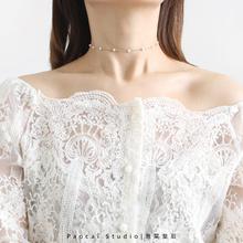 超好搭thchokewr简约少女心颈链锁骨链女脖子饰品颈带
