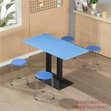 面馆(小)th店桌椅饭店ea堡甜品桌子 大排档早餐食堂餐桌椅组合