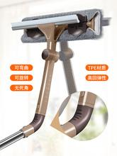 擦玻璃th器伸缩杆家ea搽刷高楼窗户刮洗器地刮清洁工具