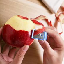 苹果去th器水果削皮ea梨子机切薄皮刮长皮不断的工具打皮(小)刀