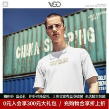VGOth色男T恤潮sd烫金印字个性莫代尔休闲港风短袖休闲夏天