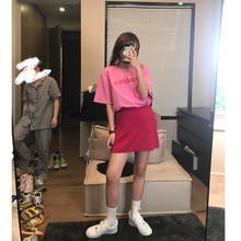 王少女th店 高腰awp 2020年新式夏季宽松针织bm风半身裙子