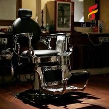 复古油ti椅男士网红un发店美发店椅子发廊专用升降可躺放倒椅