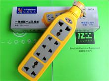 一体成型12孔工业包胶排插座ti11抗摔防ui能多功能摔不烂插排