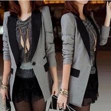 (小)西装ti外套202nd新式韩款修身中长式一粒扣西服休闲百搭长袖