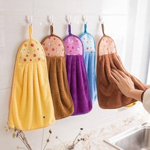 5条擦ti巾挂式可爱fa宝宝(小)家用加大厚厨房卫生间插擦手毛巾