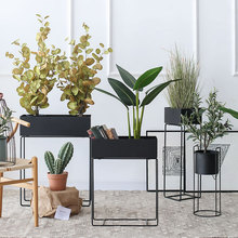 七茉 ti地式北欧式le约置物架阳台植物室内花架子
