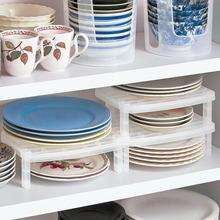 日本进ti厨房抗菌盘le架沥水支架碗碟架可叠加餐盘餐具整理架