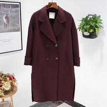 水包邮ti丁 左 2le秋冬女装新品英伦风~71.8%羊毛毛呢外套170