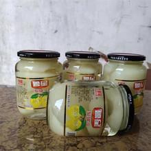 雪新鲜ti果梨子冰糖pr0克*4瓶大容量玻璃瓶包邮